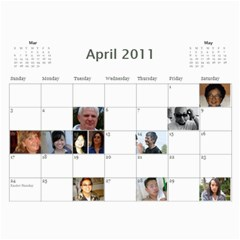 Michelle s Family Calender By Michelle   Wall Calendar 11  X 8 5  (12 Months)   0il0kml1psc4   Www Artscow Com Apr 2011