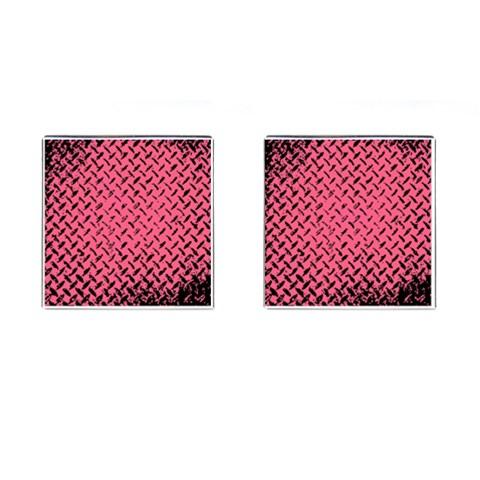 Pink Diamond Plate By Alana   Cufflinks (square)   9r6de8ap8ubp   Www Artscow Com Front
