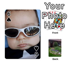 Playing Cards   Family By Debra Macv   Playing Cards 54 Designs   Am506v5gisah   Www Artscow Com Front - Spade6