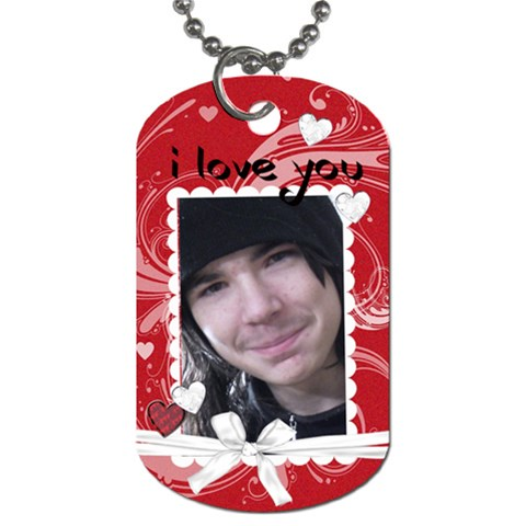 Valentine Gift Attachment By Laurrie   Dog Tag (one Side)   9j5c50gccdd6   Www Artscow Com Front