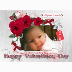 7x5 Photo Card First Valentine By Laurrie   5  X 7  Photo Cards   Vejfeh4bs250   Www Artscow Com 7 x5 Photo Card - 1