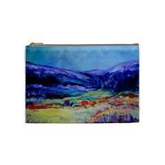Blue Ridge By Alana   Cosmetic Bag (medium)   Xm4i3g0vw8hl   Www Artscow Com Front