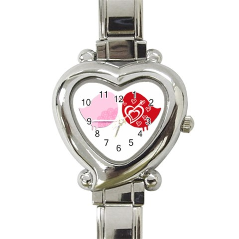Love Birds Watch By Gina   Heart Italian Charm Watch   Lr5huqgn5ff0   Www Artscow Com Front