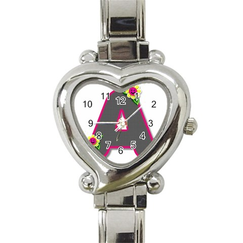 Personalized Watch By Bonnie Cheshier   Heart Italian Charm Watch   Octoaa5lv6eg   Www Artscow Com Front