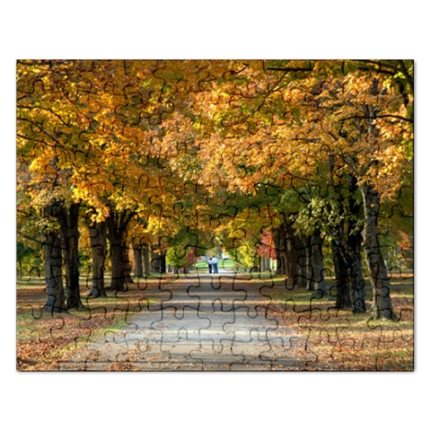 Along A Golden Tunnel By Bonnie Cheshier   Jigsaw Puzzle (rectangular)   Ca2xpjyllgxg   Www Artscow Com Front