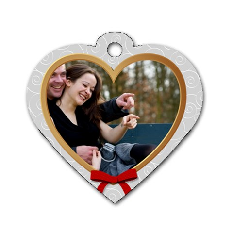 Love Tag By Wood Johnson   Dog Tag Heart (one Side)   Q4an4zfpwjxj   Www Artscow Com Front