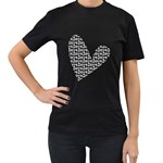 VALENTINE S DAY FOR HER - Women s T-Shirt (Black)