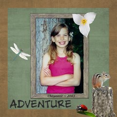 Kids Adventure Walk Scrapbook Pages By Laurrie   Scrapbook Page 12  X 12    Cezj1uobqg20   Www Artscow Com 12 x12 Scrapbook Page - 2