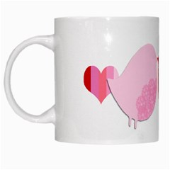 Love Birds By Gina   White Mug   Jpcl5cw947ik   Www Artscow Com Left