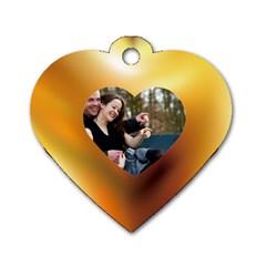 Love Key  By Wood Johnson   Dog Tag Heart (two Sides)   Z0u47tcjofyg   Www Artscow Com Front