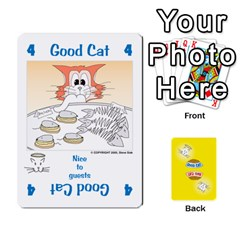 2010 Good Cat Bad Cat By Steve Sisk   Playing Cards 54 Designs   Mzvfcos5nr6j   Www Artscow Com Front - Heart2