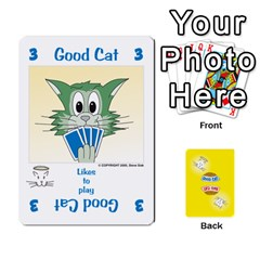 2010 Good Cat Bad Cat By Steve Sisk   Playing Cards 54 Designs   Mzvfcos5nr6j   Www Artscow Com Front - Heart4