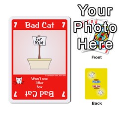 2010 Good Cat Bad Cat By Steve Sisk   Playing Cards 54 Designs   Mzvfcos5nr6j   Www Artscow Com Front - Heart10