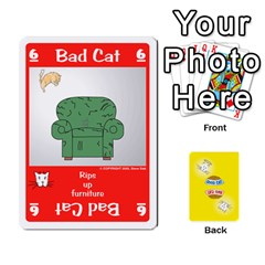 Queen 2010 Good Cat Bad Cat By Steve Sisk   Playing Cards 54 Designs   Mzvfcos5nr6j   Www Artscow Com Front - HeartQ