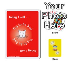 Ace 2010 Good Cat Bad Cat By Steve Sisk   Playing Cards 54 Designs   Mzvfcos5nr6j   Www Artscow Com Front - ClubA