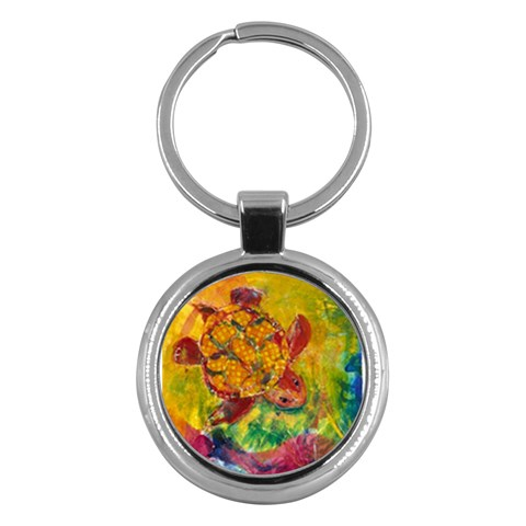 Turtle Descending By Alana   Key Chain (round)   8camcn5d33xb   Www Artscow Com Front