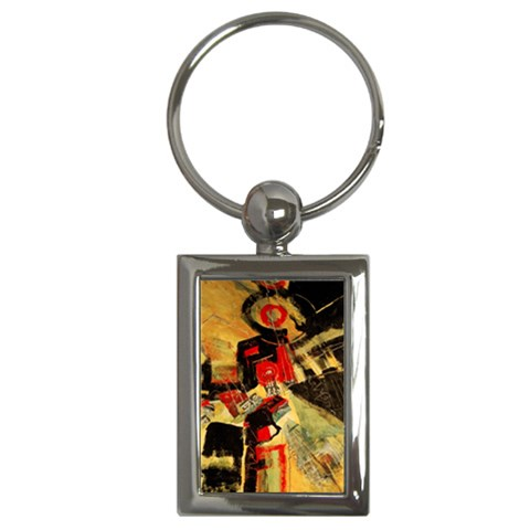 Asian Vibration By Alana   Key Chain (rectangle)   Q47zk4yg5tlm   Www Artscow Com Front