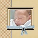 Baby Boy - ScrapBook Page 8  x 8