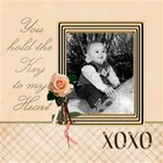 Baby Boy Heart - ScrapBook Page 8  x 8