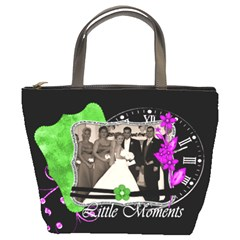 Black With Purple And Green Layout By Brookieadkins Yahoo Com   Bucket Bag   6ihyfaa7p4zy   Www Artscow Com Front