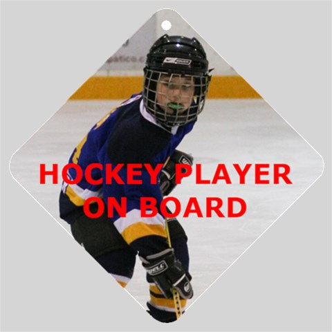 Hockey Player By Cheryl Ceretti   Car Window Sign   U5muoxgcwun8   Www Artscow Com Front