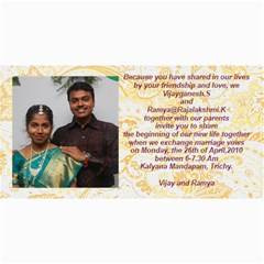 Vijay Ramya Wedding By Raji   4  X 8  Photo Cards   Nv4cf5dtirwq   Www Artscow Com 8 x4 Photo Card - 2