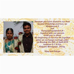 Vijay Ramya Wedding By Raji   4  X 8  Photo Cards   Nv4cf5dtirwq   Www Artscow Com 8 x4 Photo Card - 3