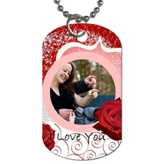Love Tag By Wood Johnson   Dog Tag (two Sides)   47ko3loaeimm   Www Artscow Com Back