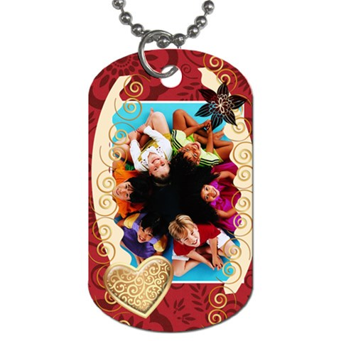Happy Kids By Wood Johnson   Dog Tag (one Side)   M2ss3rj4tegr   Www Artscow Com Front