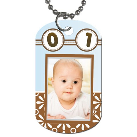 Baby  By Wood Johnson   Dog Tag (one Side)   Oqng741uwaf7   Www Artscow Com Front