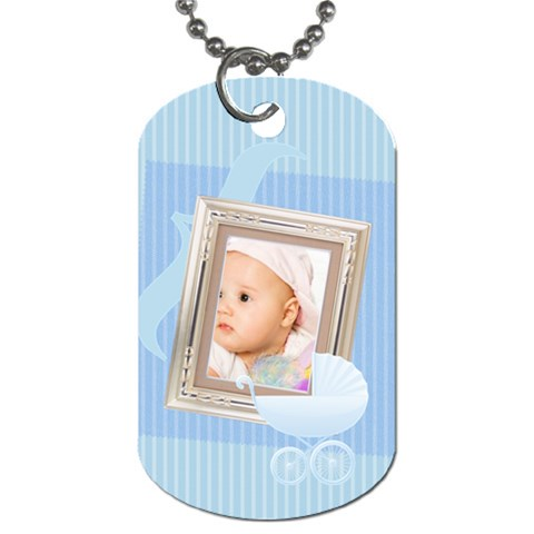 Baby By Wood Johnson   Dog Tag (one Side)   4jddv70uf6yp   Www Artscow Com Front