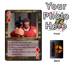 Team Funcom Tcg (faces On) By Mark C Petzold   Playing Cards 54 Designs   V895zx2wigw2   Www Artscow Com Front - Diamond5