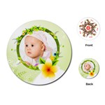 spring baby - Playing Cards (Round)
