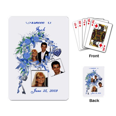 Sample Wedding Favor Cards By Laurrie   Playing Cards Single Design   Lc5mm9p348lj   Www Artscow Com Back