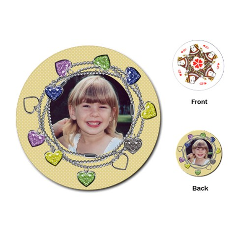 Little Charmer Cards By Laurrie   Playing Cards (round)   Pll5bbaw4qiy   Www Artscow Com Front