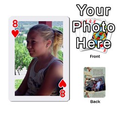 Grandkids Cards By Lynne Simmons   Playing Cards 54 Designs   0z6p7v8k15ku   Www Artscow Com Front - Heart8