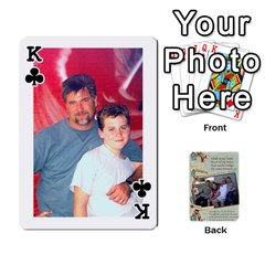 King Grandkids Cards By Lynne Simmons   Playing Cards 54 Designs   0z6p7v8k15ku   Www Artscow Com Front - ClubK