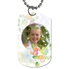 Flower By Wood Johnson   Dog Tag (two Sides)   Jnnlrgo3p07w   Www Artscow Com Front