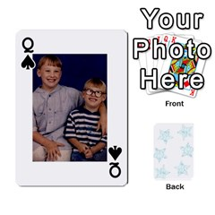 Queen 54  Photo Cards By Bonnie Peloquin   Playing Cards 54 Designs   2bz6u5o62qyq   Www Artscow Com Front - SpadeQ