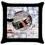 trip idea - Throw Pillow Case (Black)