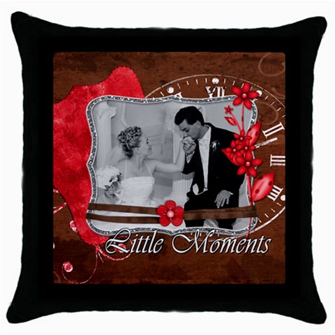 Little Moments Pillow By Brookieadkins Yahoo Com   Throw Pillow Case (black)   T000h4347xqq   Www Artscow Com Front