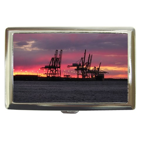 Shipyard Sunset By Alana   Cigarette Money Case   Xy019f5rjts3   Www Artscow Com Front