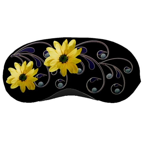 Floral Relaxation Black By Alana   Sleeping Mask   Jdq273liwy3i   Www Artscow Com Front