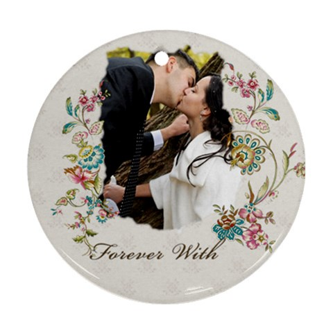 Wedding By Wood Johnson   Ornament (round)   6kwrhbs3mdp9   Www Artscow Com Front