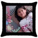 Pillow2 - Throw Pillow Case (Black)