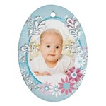 Baby blue - Ornament (Oval)