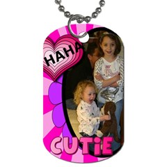 Haha Dog Tag 3  By Kimswhims   Dog Tag (two Sides)   Drdylhdd0kpb   Www Artscow Com Back