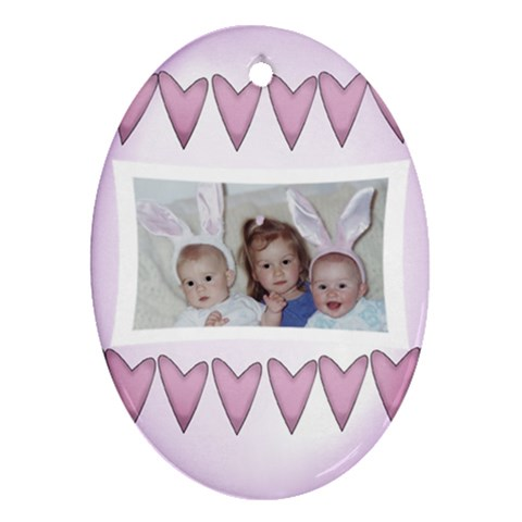 Easter By Diann   Ornament (oval)   8oaca37l3uox   Www Artscow Com Front