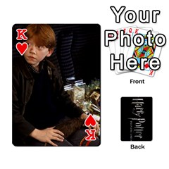 King Harry Potter Playing Cards By Mark C Petzold   Playing Cards 54 Designs   41vwjvfrukj9   Www Artscow Com Front - HeartK