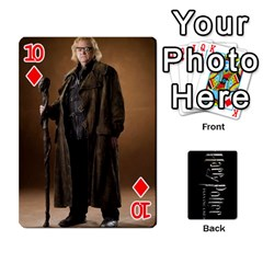 Harry Potter Playing Cards By Mark C Petzold   Playing Cards 54 Designs   41vwjvfrukj9   Www Artscow Com Front - Diamond10